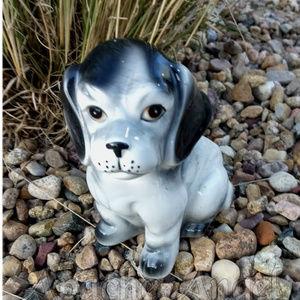 Vintage Accents - Vtg Ceramic Puppy Dog Flower Pot Planter